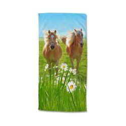 good morning Badetücher Strand- und Badetuch Pferde, 75 x 150 cm