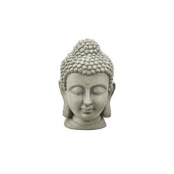 Basispreis* Buddhakopf ¦ grau ¦ Magnesia ¦ Maße (cm): B: 16,5 H: 25,5 T: 16,5