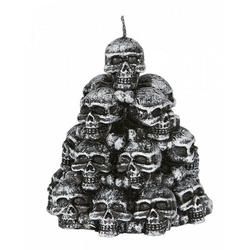 Horror-Shop Kerzenständer Spooky Skulls Kerze mit Totenschädeln