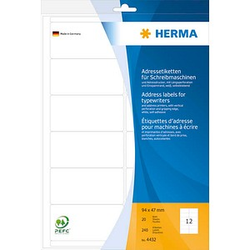 240 HERMA Adressetiketten 4432 weiß