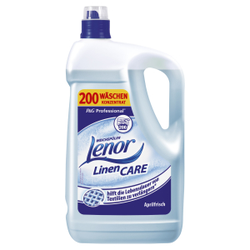 P&G Professional Lenor Weichspüler, Wohlriechendes Weichspülerkonzentrat mit hochkonzentrierter Formel, 5 Liter - Griffflasche, Aprilfrisch