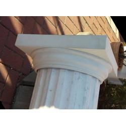 BAD-A037 Betonsäulen Schaft kanneliert als Säulen Hohlkörper Rohr Betonelement aus Weissbeton Ø 30cm 250cm 190kg (Material: Weißbeton)