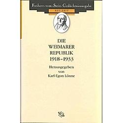 Die Weimarer Republik 1918-1933 - Buch