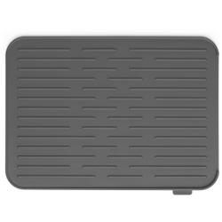 Brabantia Abtropfmatte, silikon, Strapazierfähige Geschirrabtropfmatte mit Stil, Farbe: Dark grey