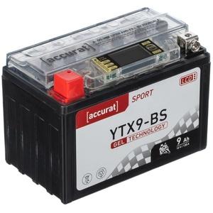 Accurat Sport GEL LCD YTX9-BS Motorradbatterie 9Ah 12V (DIN 50812) YT9B-BS YG9-BS