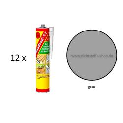 12 x Sika Bond T1 Plus 1K PU Kleber Klebstoff 300ml Kartusche grau