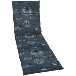 GO-DE Liegenauflage, 190 x 60 cm blau 58 cm x 188 cm