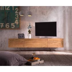 DELIFE TV-Board Wyatt, Akazie Natur 175 cm 1 Klappe 2 Türen Designer Lowboard natur