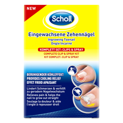 SCHOLL Eingewachsene Zehennägel Clips & Spray