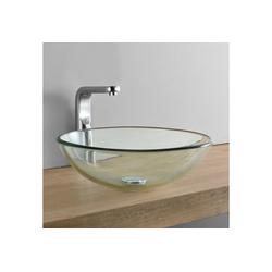 neu.haus Waschbecken, Jarvis Glas Aufsatzwaschbecken rund beige