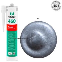Ramsauer 450 Sanitär alu 1K Silikon Dichtstoff 310ml Kartusche