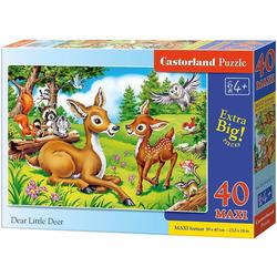 Castorland Puzzle Puzzle 40 Teile maxi Das kleine Reh, Puzzleteile