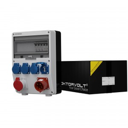 Stromverteiler TD-S 1x16A 4x230V 32A Einbausteckdose Doktorvolt® 0267