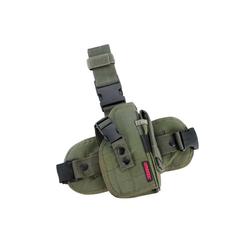 Oberschenkelholster aus Cordura-Gewebe, Farbe : grün
