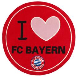 Teppich FC Bayern Runder Teppich 1.00 x 1.00 m Fussball Fan Lizensware, Böing Carpet, Rund, Höhe 5 mm