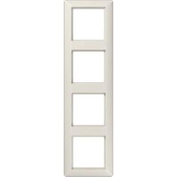 Jung 4fach Rahmen Creme-Weiß AS584