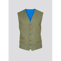 Alan Paine Combrook Tweed-Weste - lagoon