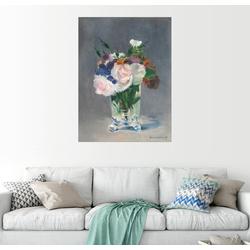 Posterlounge Wandbild, Blumen in einer Kristallvase 100 cm x 130 cm