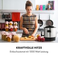Klarstein Biggie Eco Einkochautomat & Getränkespender 1000W 30-100°C Zapfhahn 9l