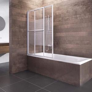 Schulte D1130 04 72 Komfort Duschabtrennung für Badewanne, alpinweiß, 70-118 cm