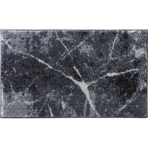 Badematte Erwin Müller, Höhe 20 mm, gemustert grau rund - rund:90 cm x rund:90 cm x 20 mm