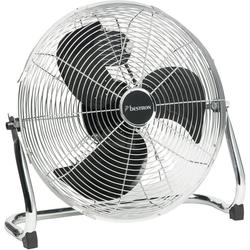 bestron Bodenventilator DFA40, im Retro-Stil, Mit neigbarem Ventilatorkopf, Chrom, für eine angenehme Luftzirkulation
