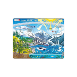 Larsen Puzzle Rahmen-Puzzle, 69 Teile, 36x28 cm, Unser Klima, Puzzleteile