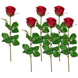 Kunstblume Kunstblume, Creativ green, Höhe 69 cm rot