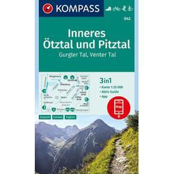 Inneres Ötztal und Pitztal Gurgler Tal Venter Tal 1:25 000