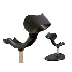 Ständer, dunkelgrau, 80mm hoch, starr, beschwerter Sockel, Xenon Cradle für Xenon 1900 und Xenon 1950g