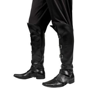 Boland 81994 - Edle Stiefelstulpen Striker One Size, Ritterkostüm, Mittelalterkostüm, Fasching, Themenparty, Mottoparty