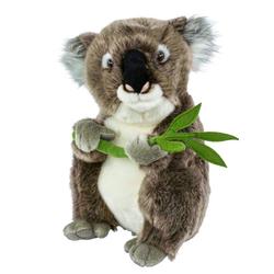 Teddys Rothenburg Kuscheltier Koalabär mit Blatt 30 cm sitzend grau (Plüschtiere Koalas Stofftiere, Koalabären)