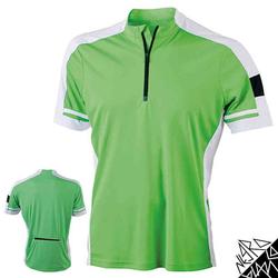Herren Radtrikot / Fahrradtrikot | James & Nicholson grün XL