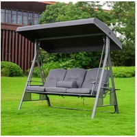 Home Deluxe Hollywoodschaukel Descanso grau 3-Sitzer