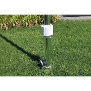 SCHNEIDER SCHIRME Bodenhülse für Schirmstöcke bis Ø 50 mm silberfarben