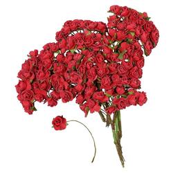 Kunstblume Papier-Röschen, VBS Großhandelspackung, 144 Stück rot