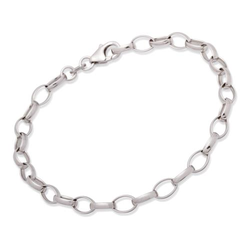 925 Silber Bettelarmband für Charms 19cm
