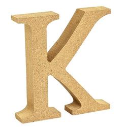 """VBS Buchstaben """"MDF"""" 8 cm x 1,5 cm bunt Buchstabe """"K"""""""