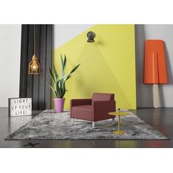 machalke® Sessel single, Ledersessel mit Metallkufen rot