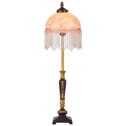 Casa Padrino Barockstil Tischleuchte Mehrfarbig Ø 20 x H. 66 cm - Barock & Jugendstil Möbel