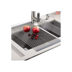 """Rainsworth Geschirrständer, Zubehör für abtropfgestell Geschirrständer - Kein Platzbedarf Leicht hitzebeständiges Aufrollgeschirrspülgestell aufbewahren - geeignet für Edelstahlspüle abtropfgitter(20,8""""x 18,1"""", warmes Grau), abtropfgestell Geschirrständer grau"""