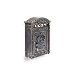 relaxdays Briefkasten Briefkasten Antik gelb 31 cm x 9.5 cm x 44.5 cm