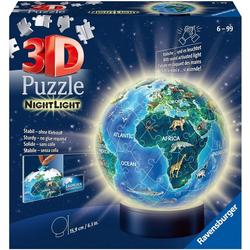 Ravensburger Puzzleball Nachtlicht Erde bei Nacht, 72 Puzzleteile, mit Leuchtmodul inkl. LEDs; Made in Europe