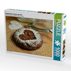 Romantischer Kuchen mit Herz Lege-Größe 64 x 48 cm Foto-Puzzle Bild von Renate Bleicher Puzzle