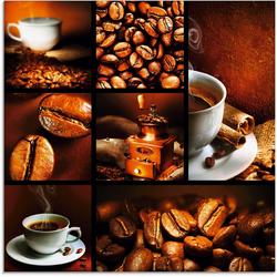Artland Glasbild Kaffee Collage, Getränke (1 Stück) 20 cm x 20 cm
