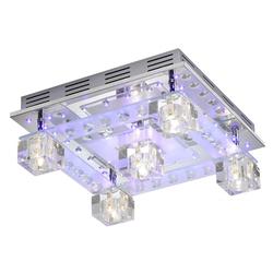 Decken Leuchte Glas Würfel Wohn Zimmer Lampe Kristall Deko LED Leuchten Direkt 50377-17