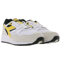 Diadora diadora N9002 Beta Sneaker sportliche Herren Low Top Schuhe Turnschuhe Beige/Weiß/Schwarz Fußballschuh