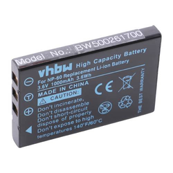 vhbw Li-Ion Akku 1000mAh (3.6V) für Kamera Rollei Movieline SD5, Movieline P5, Movieline P3, Movieline DV5 wie NP-60, HP-L1812A, HP R07.