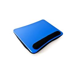 relaxdays Laptop Tablett Laptopkissen mit Handauflage Blau, Kunststoff