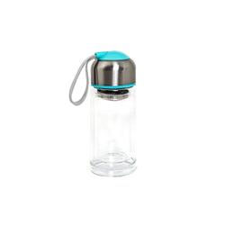 HTI-Line Trinkflasche Trinkflasche Glas, Trinkflasche blau